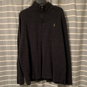 Charcoal black quarter zip pullover